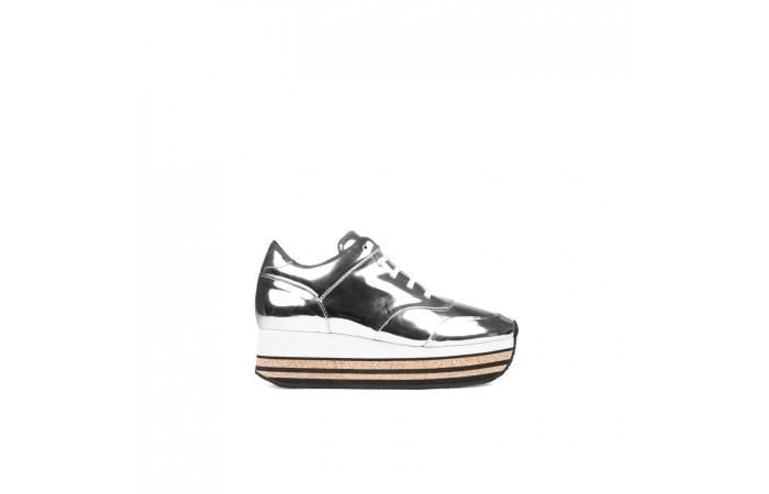 Silver berlin sneaker