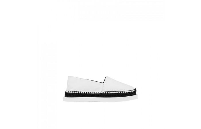 Two color platform shoes