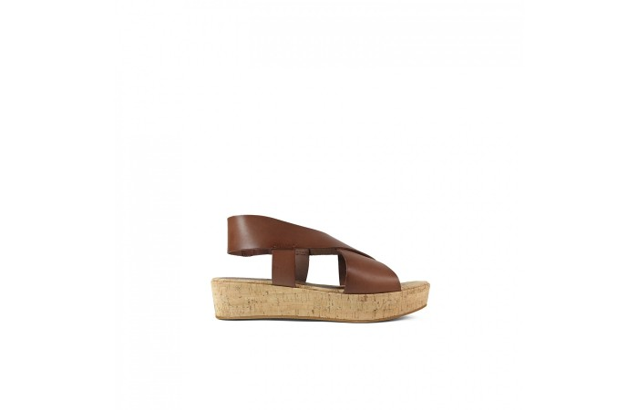 Midi Cork Sandal