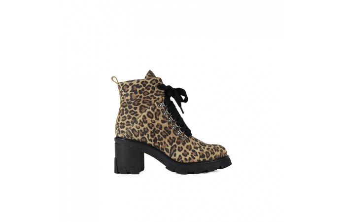 Giselle Leopard Ankle Boot