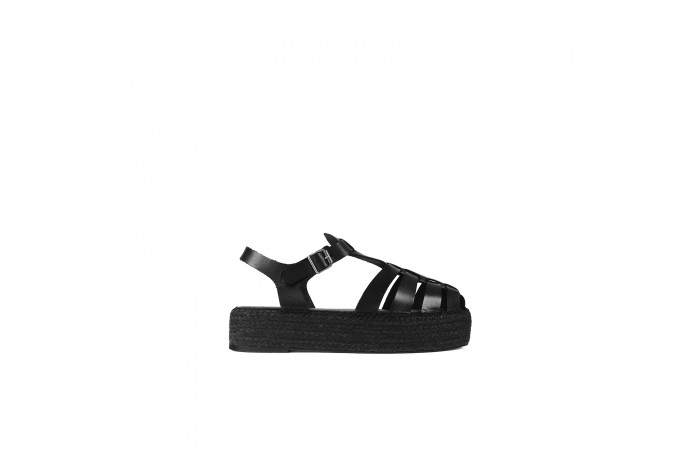Black Esparto Sandal