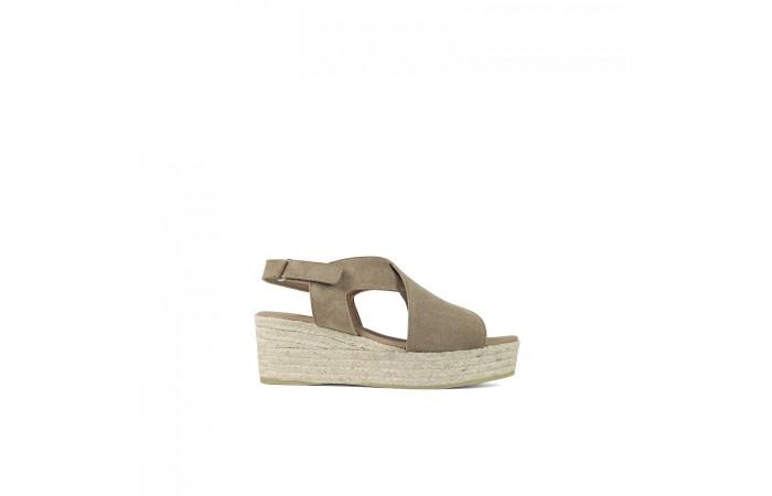 Opened Esparto Platform Sandal