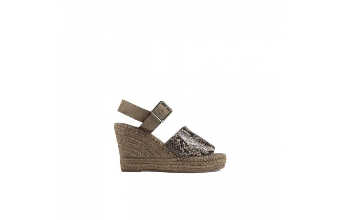 Animal Print wedge esparto...