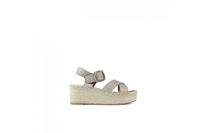 Cross Sandal Esparto Platform