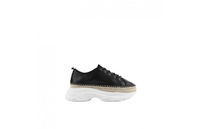 White Platform Esparto Sneaker