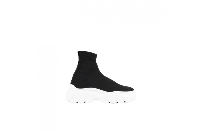 Sock Sneaker Plataforma Negro