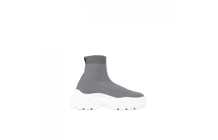 Sock Sneaker Plataforma Gris