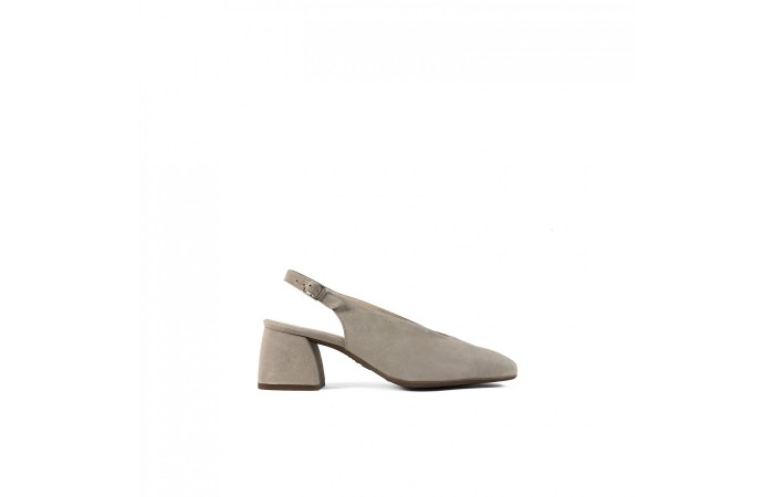 Geometric heeled sandal