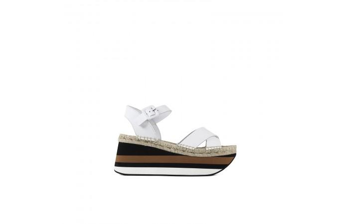 White Esparto Flat Sandal