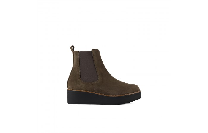 Brown Platform Clea Ankle...