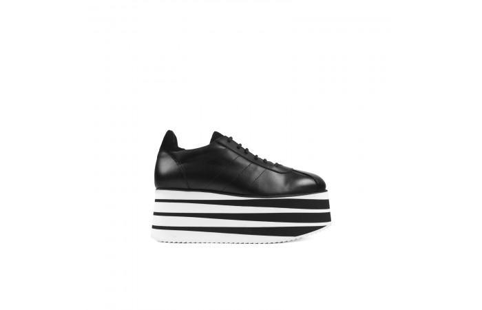 Cora leather platform sneaker