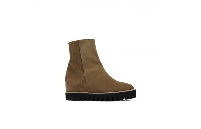 Brown Wedge Boot Platform