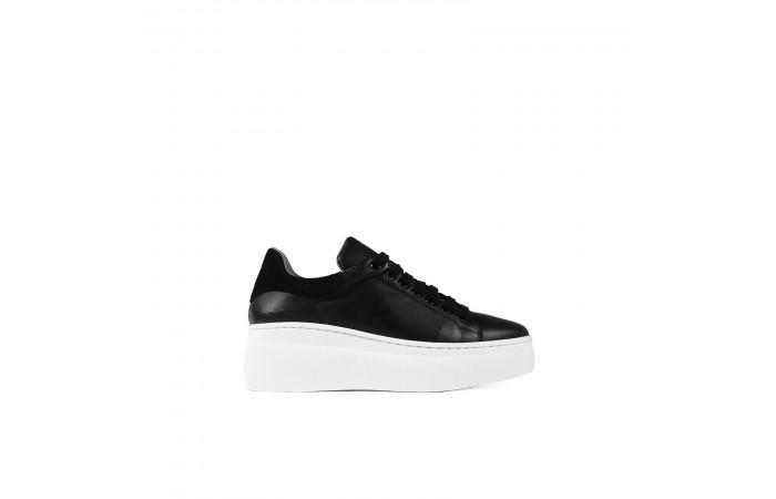 Black platform nina sneaker
