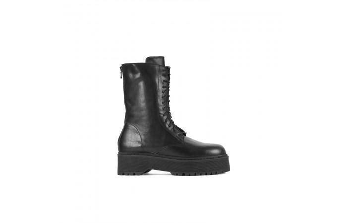 Zipper platform stark boots