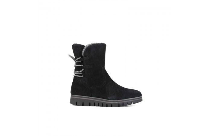 Black soft suede boots
