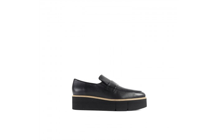 Black leather Jena moccasin