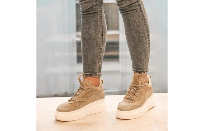 Sneaker Plataforma Nina Camel