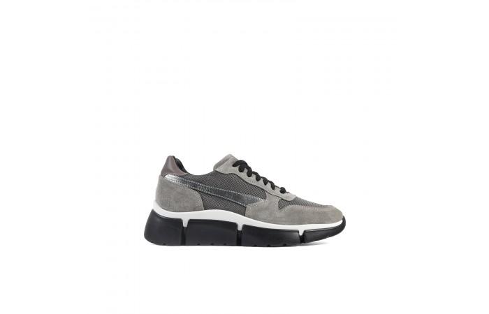 Gray platform Jane sneaker