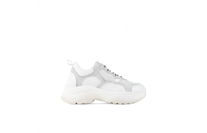 White yoko redesigned sneaker