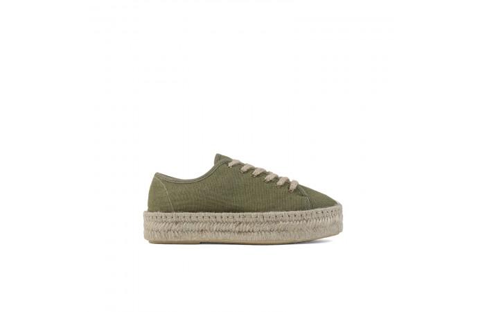Green platform lucca sneaker