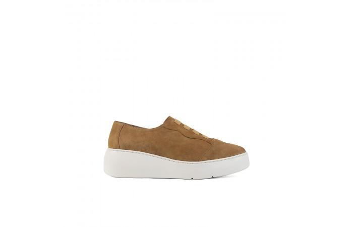 Brown platform Noa sneaker