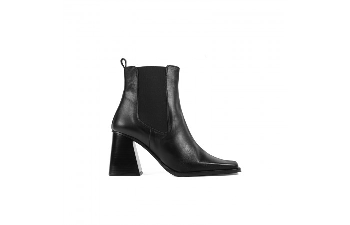 Black elephant ankle boots