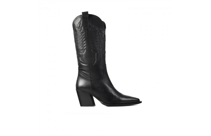 Black Cowboy Valeria Boots