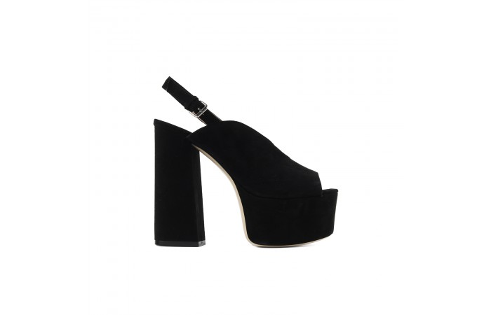 Black XL Platform Sandals