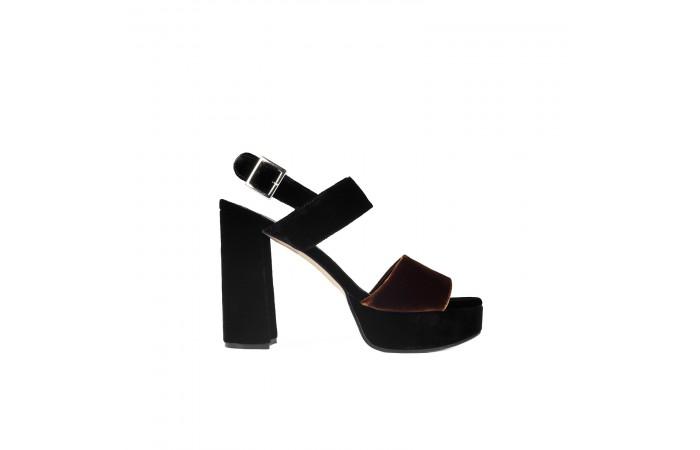 Velvet Heeled Sandal