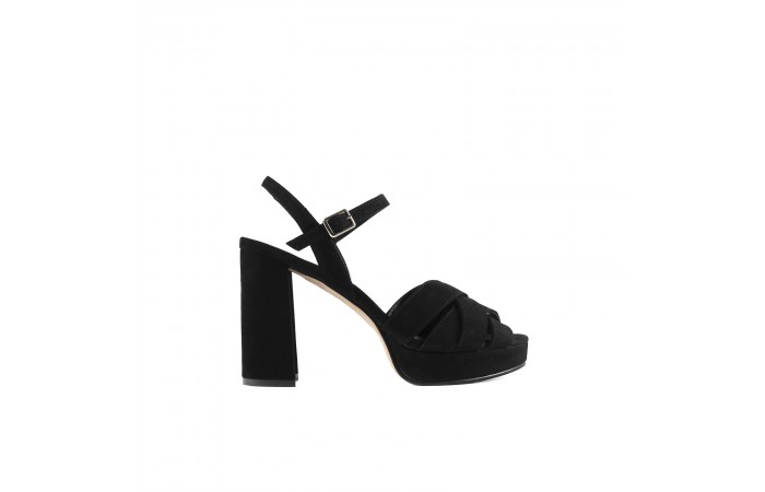 Black Heeled strappy sandal