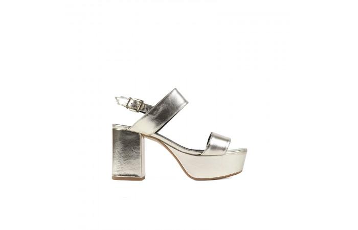 Golden Mel Heeled Sandal