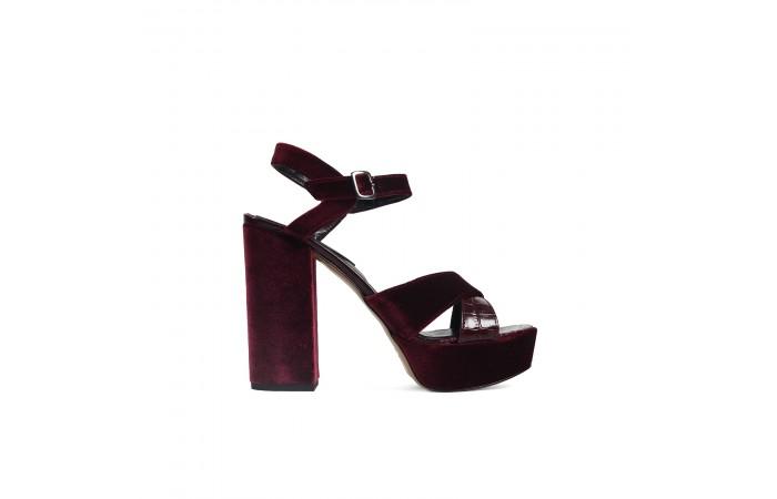 Velvet coco heel sandal