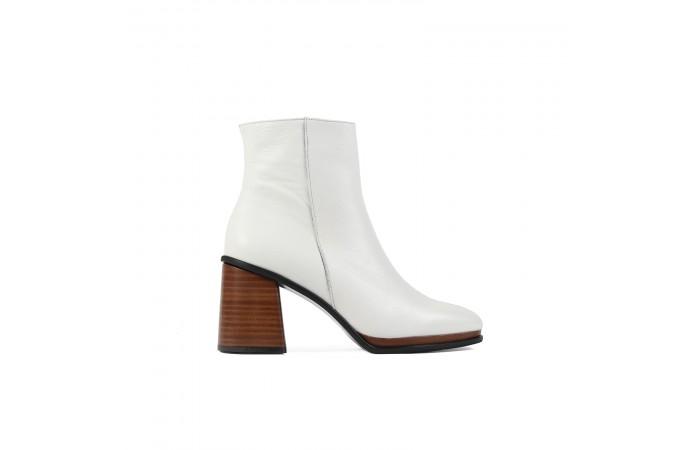 White elephant midi heel boots