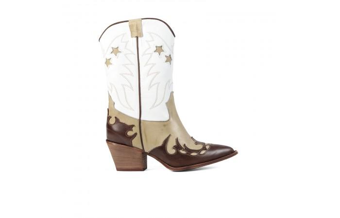White Cowboy Yosemite Boots