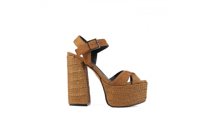Brown platform heeled Grace...