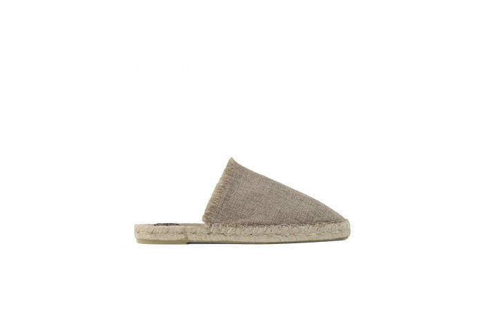 Brown Yute Espadrille