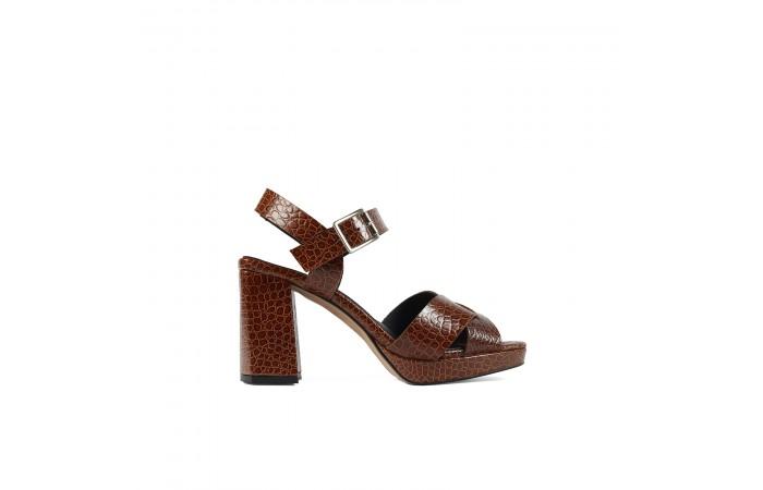 Brown heel Coco Sandal