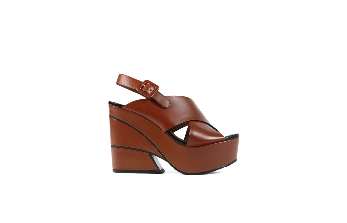 Brown XL Geometric Platform...