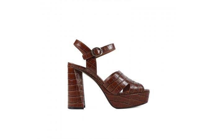 Brown Platform Coco Sandal