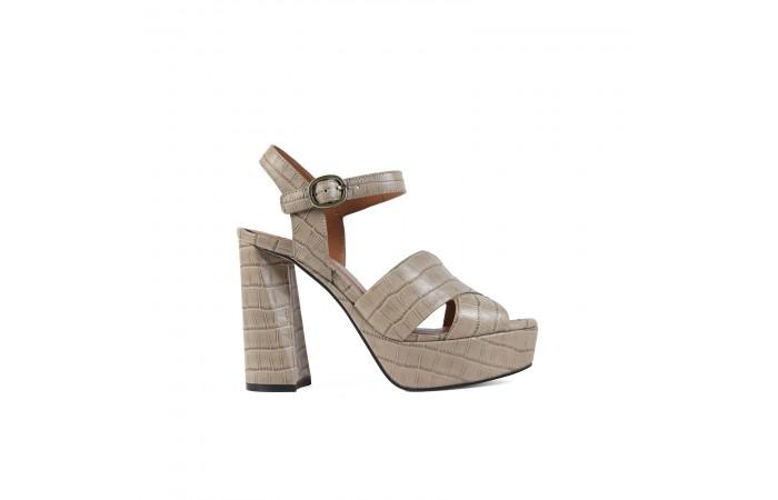 Beige Platform Coco Sandal