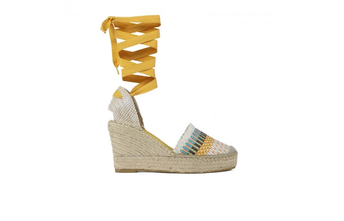 Multicolored Esparto Wedge...