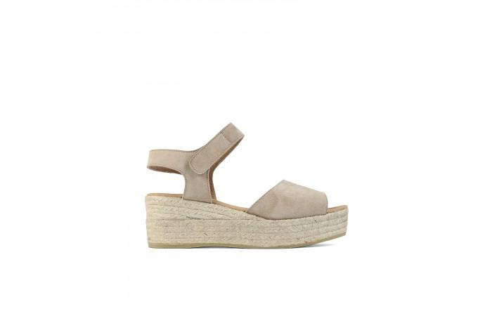Velcro Esparto Platform sandal