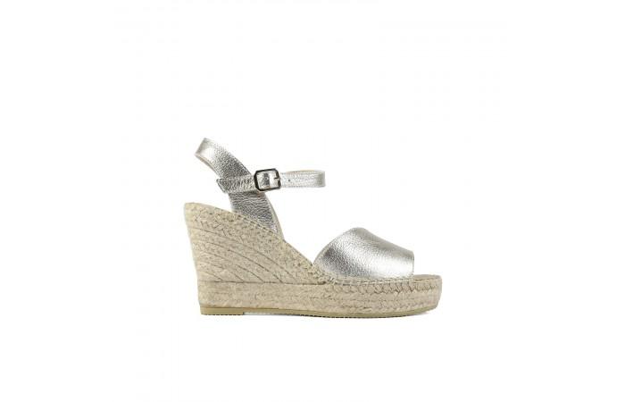 Silver Platform Esparto Sandal