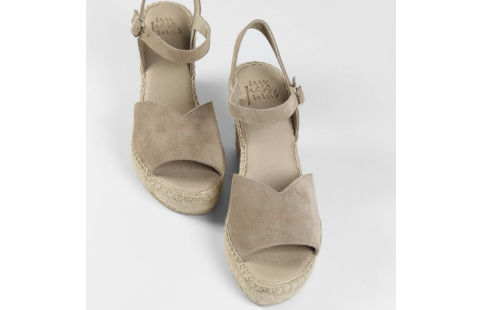 Beige Platform Esparto Sandal