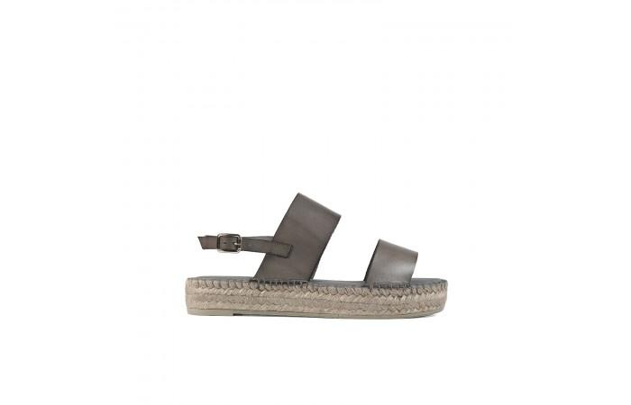 Gray esparto Flat Sandal