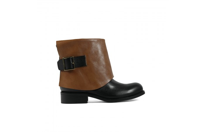 Two-color Maiba ankle boots