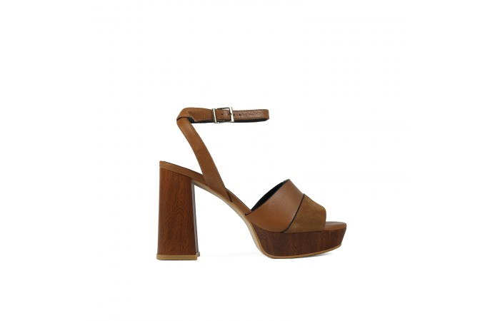 Brown Heeled Lucy sandal