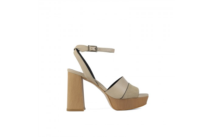 Beige Heeled Lucy sandal