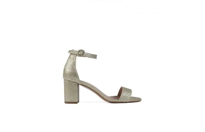 Glitter midi heeled sandal