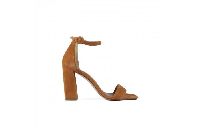 Camel Heeled Sandal